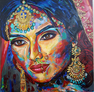 Juliana Lavoura-Indian woman-100cmx100cm
