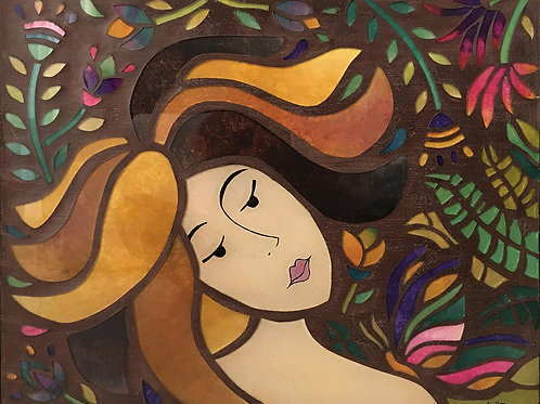 Toque de Borboleta - 40 x 50 cm - por Ju Barros
