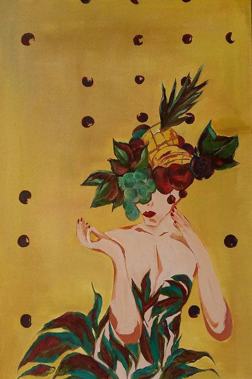 Belle - 60 x 40 cm - por Chris Contreiras