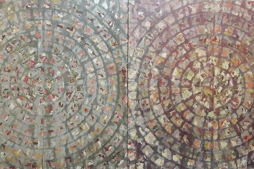 Sem título - Díptico 80 x 160 cm - por Junice Pereira