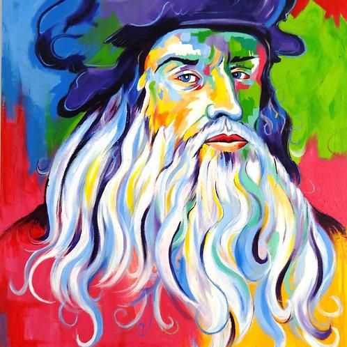 Da Vinci - 80 x 70 cm - por Gustavo Salgado