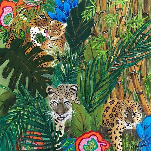 Floresta I - 80 x 80 cm - por Cibele Pugliesi