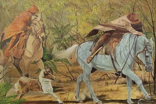 Cavalgada - 100 x 100 cm - por Ivo