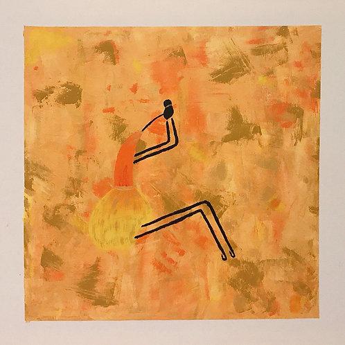 Bailarinas Também Choram - 50x 50 cm - por Gleison Castro