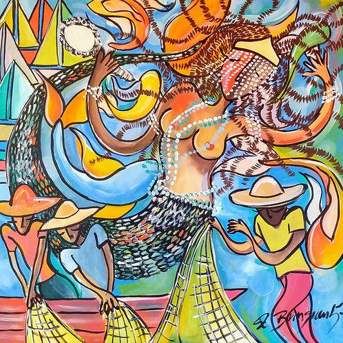 Rainha dos pescadores - 70 x 70 cm - por AndréBringuenti
