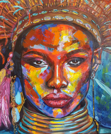 Juliana Lavoura-Ndebels Woman- 100cmx 10