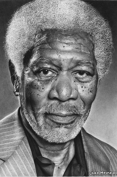 Morgan Freeman - 21 x 29,7 cm - por Chiko Moura