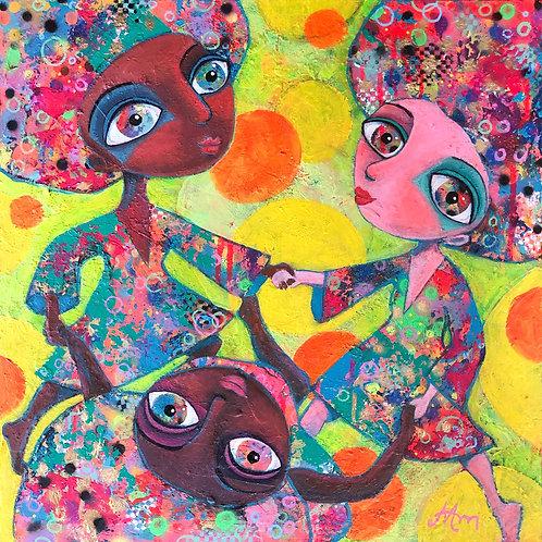 I feel joy - 50 x 50 cm - por Maria Alm