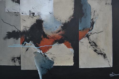 Tarde de Tempestade - 100 x 60 cm - por Hilda Siqueira