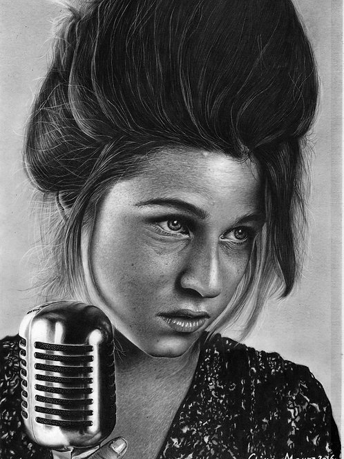 Selah Sue - 21 x 29,7 cm - por Chiko Moura