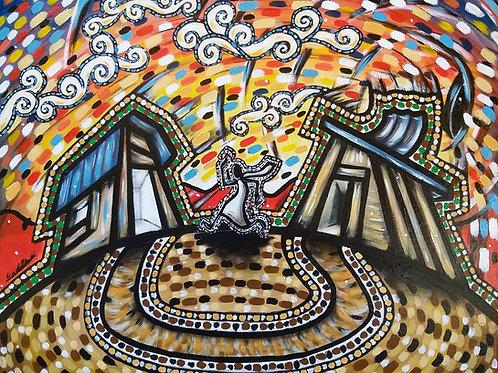 O Segundo portal - 50 x 60 cm - por Wadson Silva