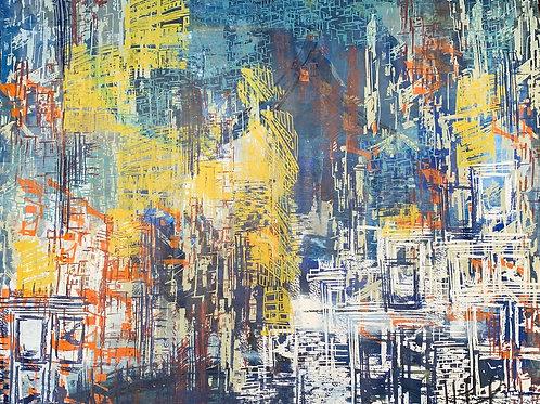 Chegada - 100 x 120 cm - por Liselena Dalla Corte