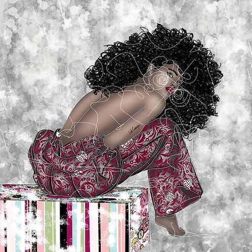 Nega - 100 x 100 cm - por Luli Crespin