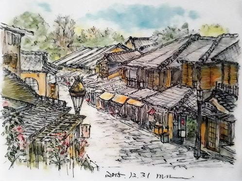 A city with history and tradition IV- 10 x 15 cm - por Motonori Nakamura