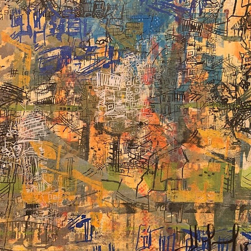 Subindo o morro - 50 x 50 cm - por Liselena Dalla Corte