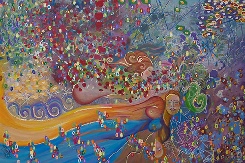 Mulheres Ruivas - Sonhos 60 x 90 cm - por Lisandra Miguel