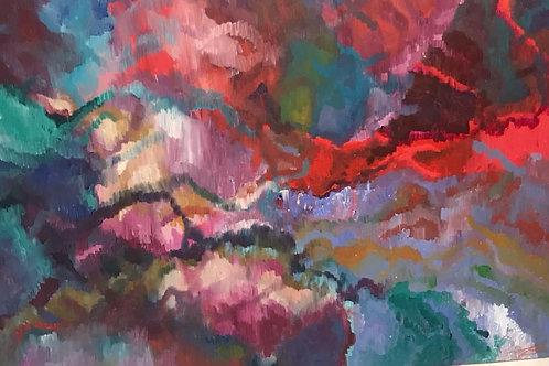 O amor precisa de amor hoje - 100 x 150 cm - por Julia Blu