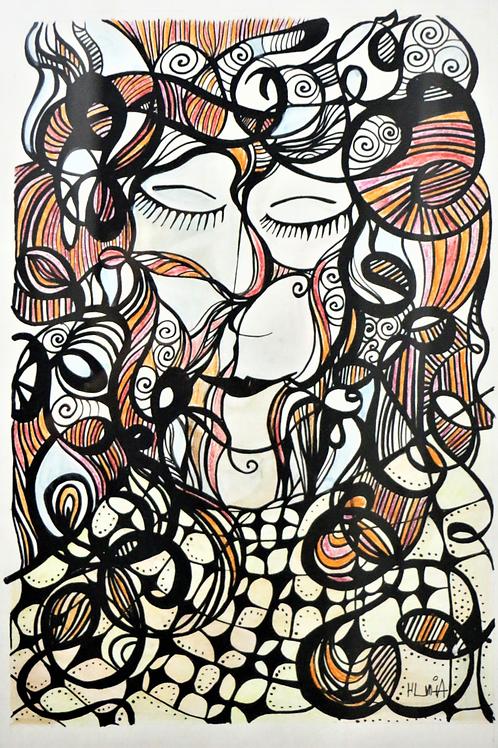 Dormindo para a eternidade - 42 X 29.7 cm - por Aimée Resende