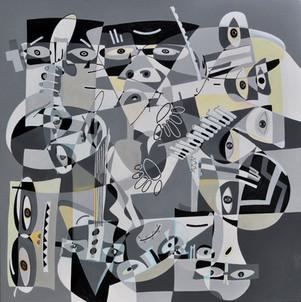 Jansen Vichy-Os músicos-1.10x1.10-AST-20
