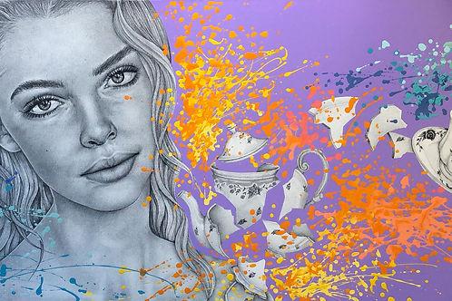 Sobre el silencio - 200 x 70 cm - por Areli Ribero