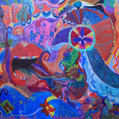 Mural da inspiração - 50 x 50 cm - por Victor Muszkat