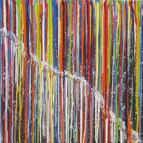 Corrida de Cores Nº 3 - 72 x 72 cm - por Aaron Barrios