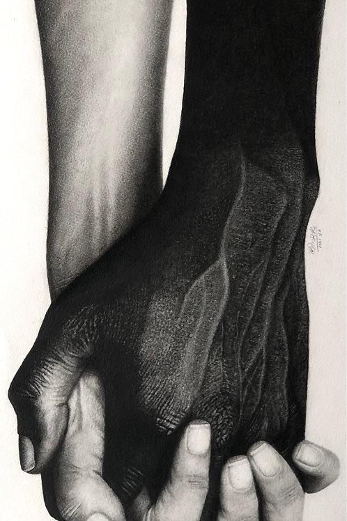 Mãos dadas - 67 x 33 cm - por Giovana Hemb