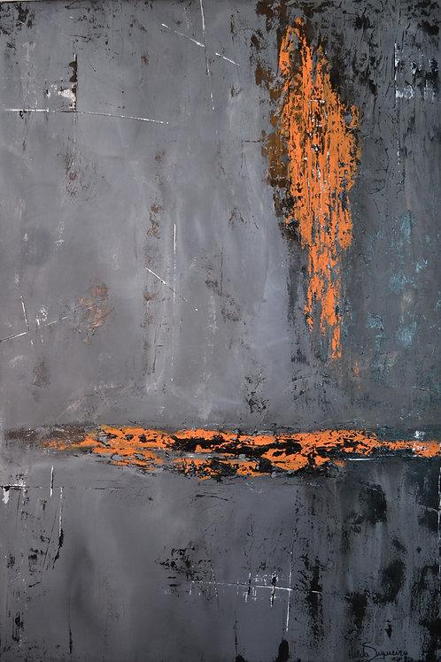Ferro em Brasa - 130 x 90 cm - por Hilda Siqueira