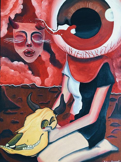 O Olho que tudo vê - 80 x 50 cm - por Felipe Amaral