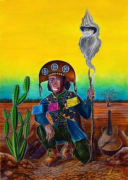 Bolcato-Cordel do Cangaceiro Arrependido, 29,7x42 cm, Guache sobre papel Canson - R$ 2.500,00.jpg