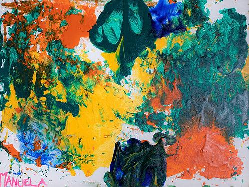 Caixa de areia -30 x 40 cm - por Manuela