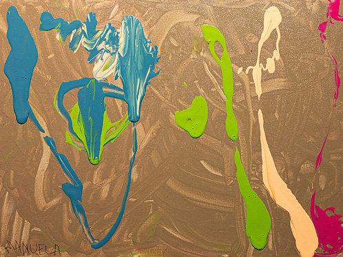Arco-íris - 40 x 30 cm - por Manu