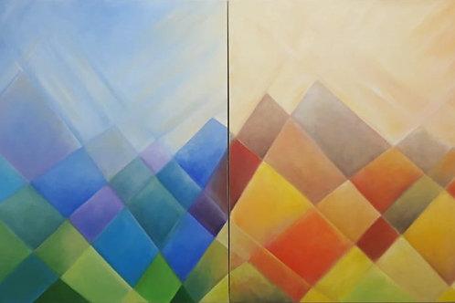 Montanhas de Minas- Díptico - 70 x 140 cm - por Junice Pereira