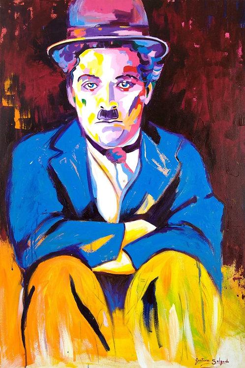 Chaplin - 120 x 80 cm - por Gustavo Salgado