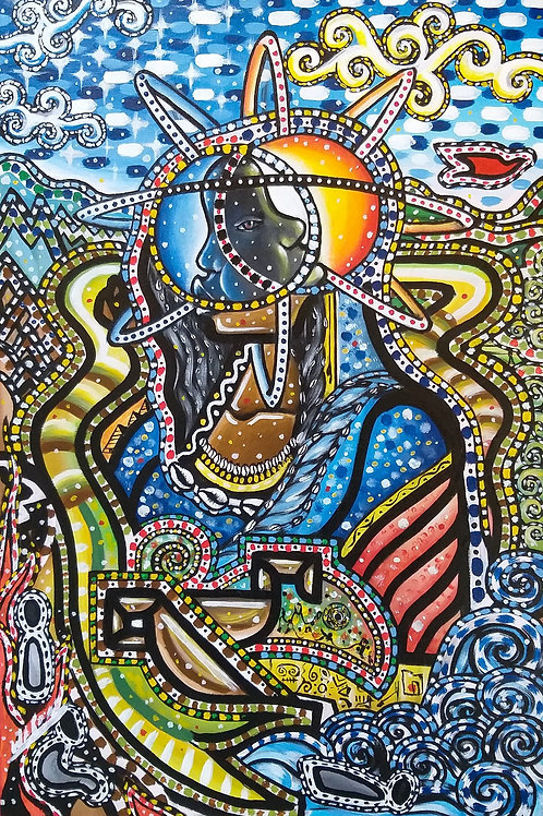 Mawu Lissá - 60 x 40 cm - por Wadson Silva
