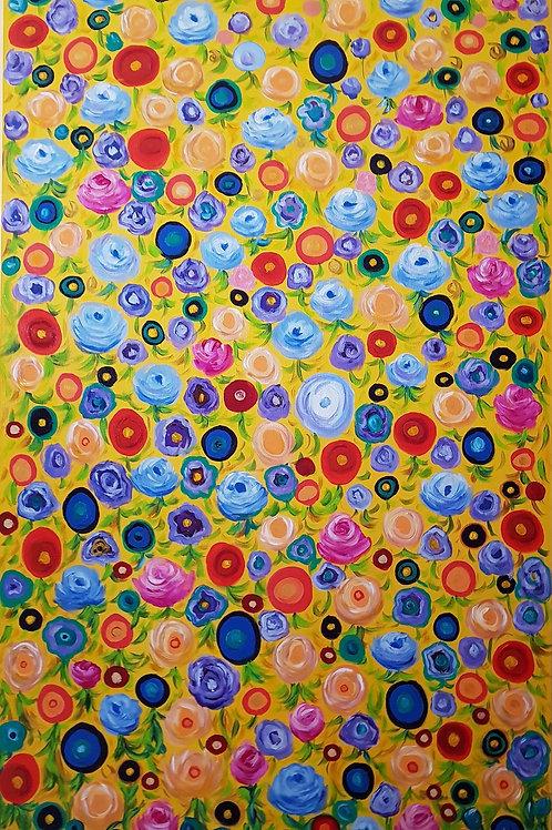 Divinas Flores -140 x 80 cm - por Cristina Christos