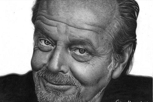 Jack Nicholson - 21 x 29,7 cm - por Chiko Moura