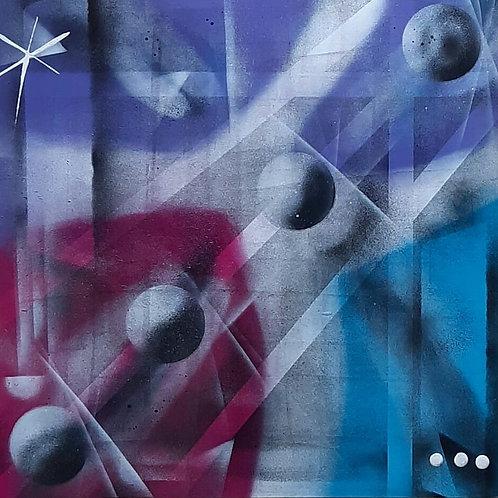 Quatro Luas - 50 x 50 cm - por Vini Cosmos