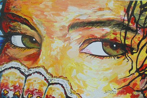 Olhos de Mel - 70 x 120 cm - por Joel Du Mara