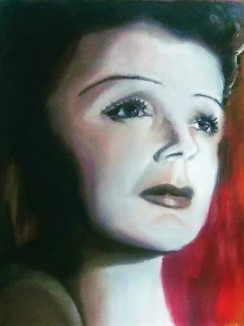 """""""La Vie en Rose"""" Edith Piaf - 50 x 40 cm - por Ada"""