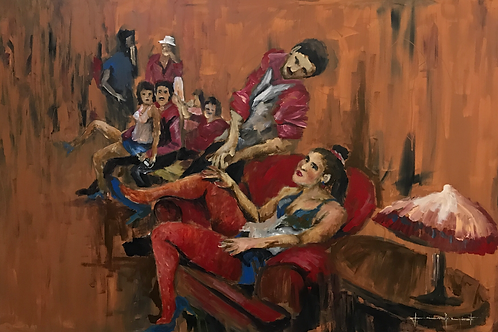 Cabaré 4 - 150 x100 cm - por Jeisom Nascimento