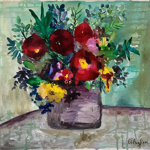 Flores I - 50 x 50 cm - por Cibele Pugliesi