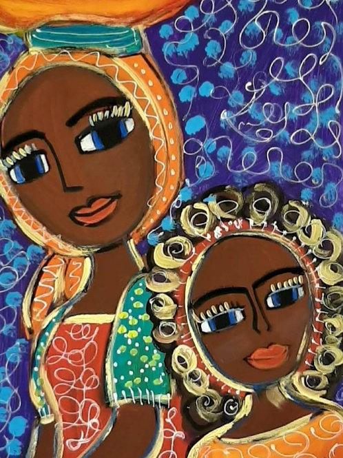 África em mim - 66 × 48 cm - por Juliana Rabelo