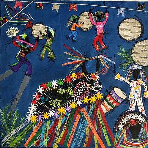 Folclore brasileiro - 50 x 50 cm - por Cibele Pugliesi