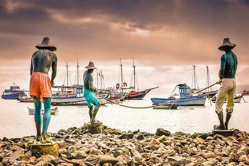 Pescadores de Buzios - 40 x 60 cm - por Nando CR Guimarães