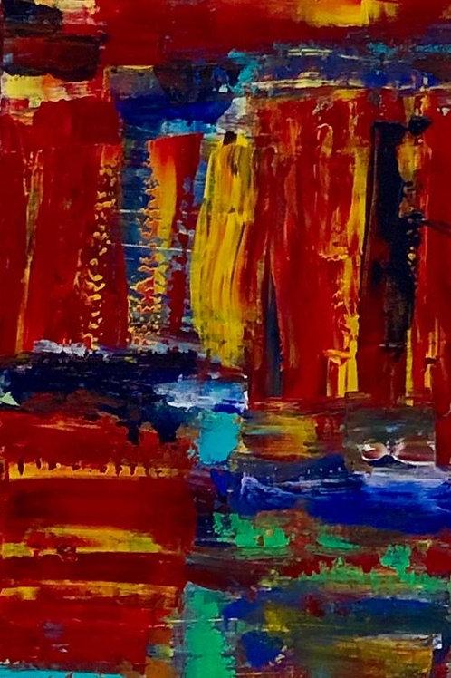 Movimento- 60 x 30 cm- por Arlita Angrizani