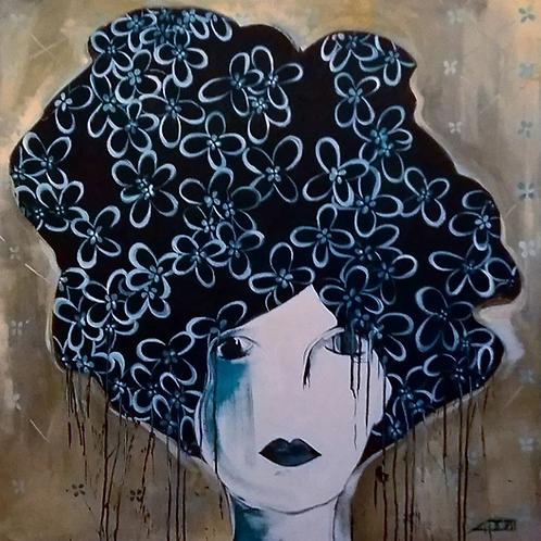 Lamento - 100 x 100 cm - por Chris Contreiras