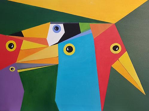 Pássaros Diversidades - 60 x 80 cm - por José Guilherme