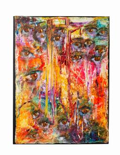 LuahJassi + O Mundo Chora + 115 x85 cm +