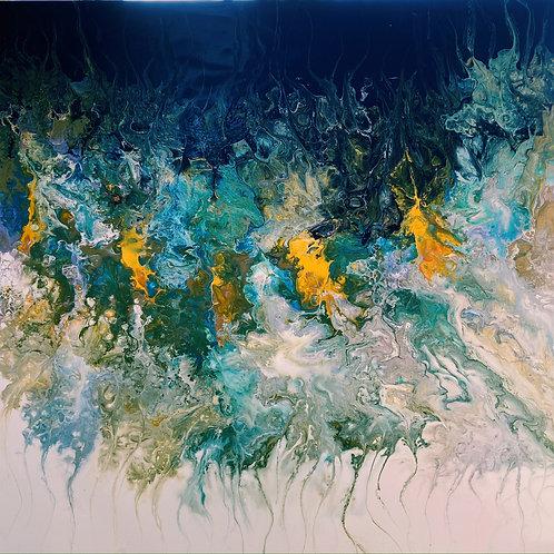 Os dois lados - 80 x 80 cm - por Clay Barros